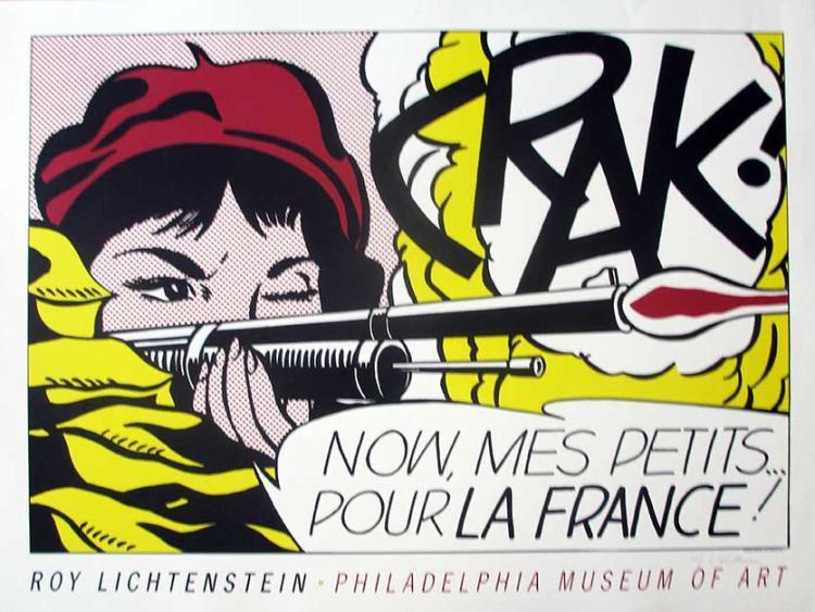 Roy Lichtenstein Crak!, 1963 Offset lithograph print, Hand signed