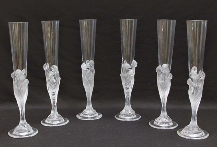 Erte Champagne Flutes Set of Six
