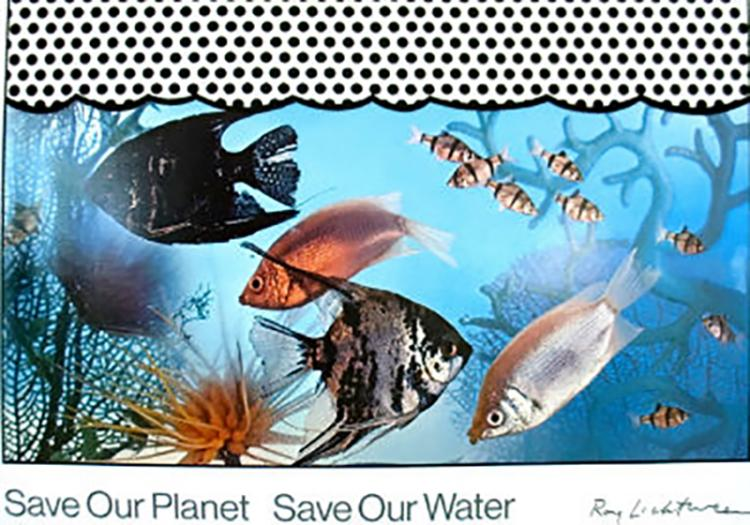Roy Lichtenstein Save Our Planet Save 1971 signed on the plate