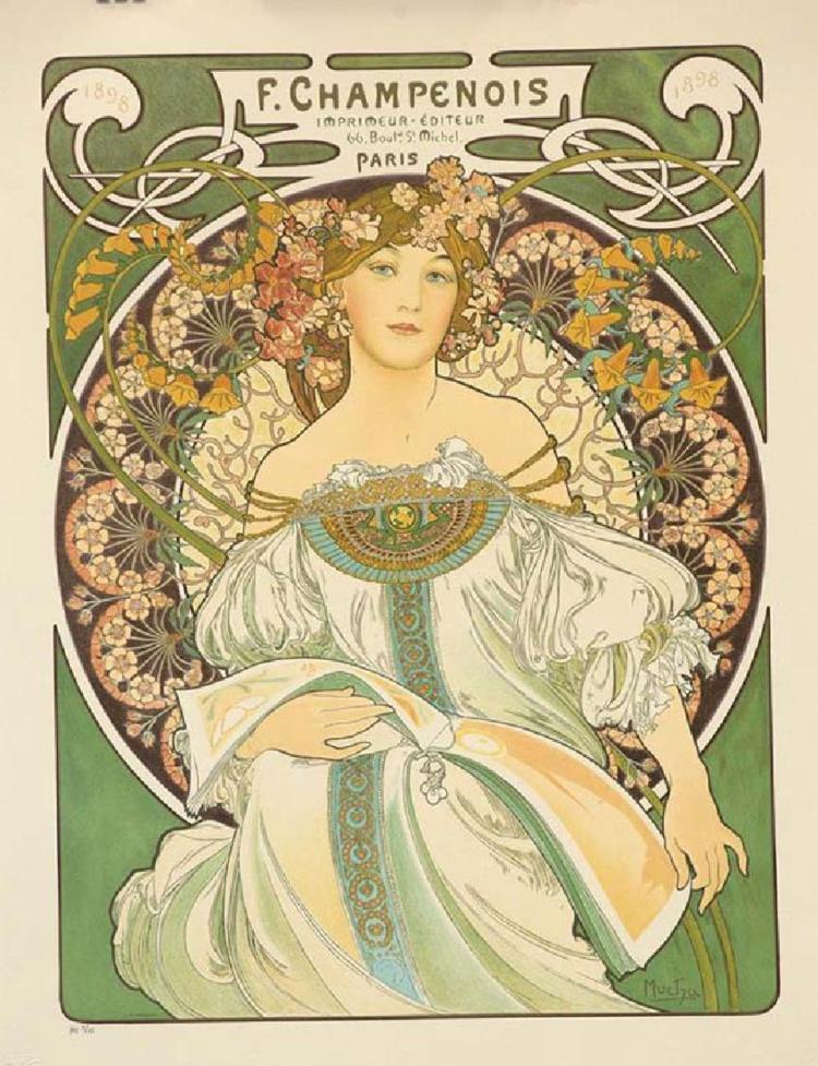 Alphonse Mucha (Czechoslovakian, 1860-1939), Reverie