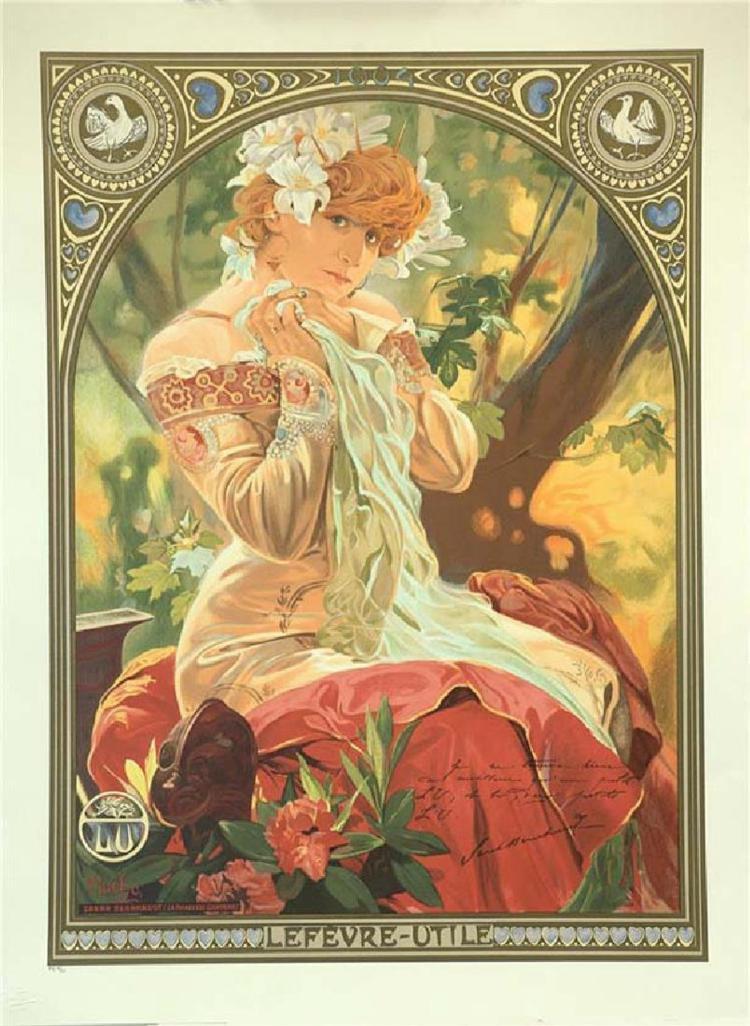 Alphonse Mucha (Czechoslovakian, 1860-1939), Sarah