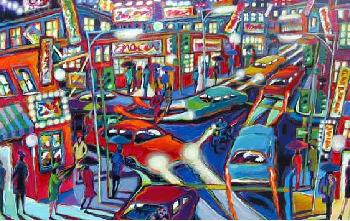 James Talmadge, Night Lights Serigraph hand signed and numbered