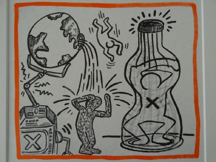 Keith Haring, After Drawing Composition