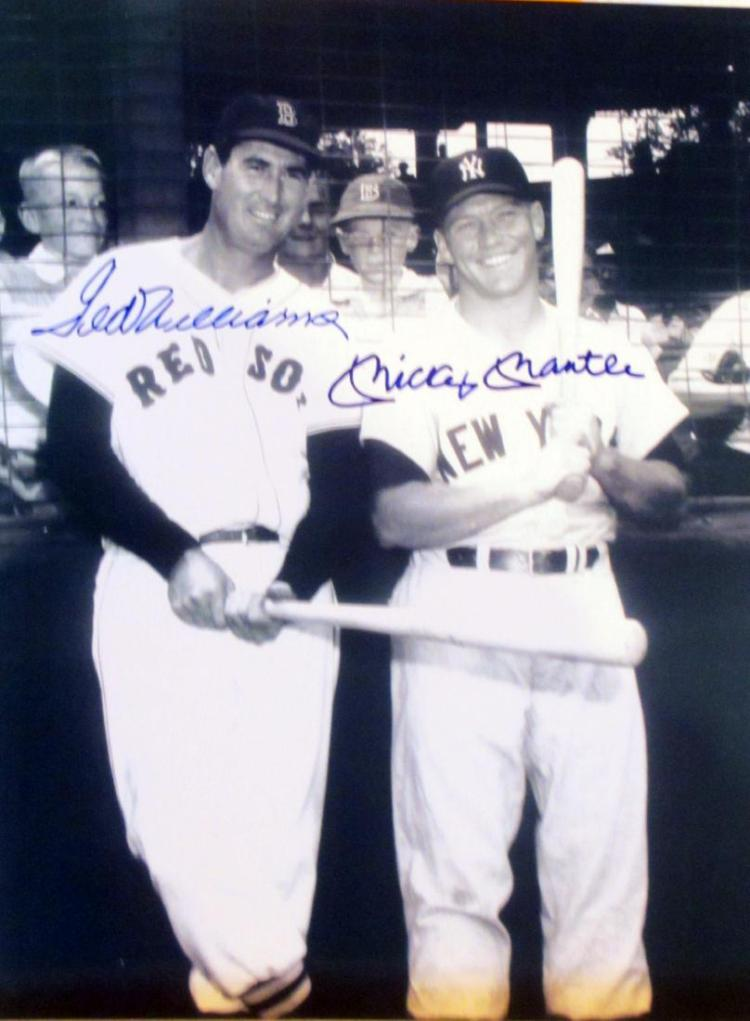 memorabilia Hall of Famers Ted Williams and Mickey
