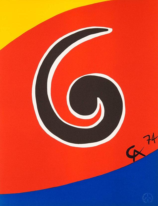 Alexander Calder, Sky Swirl 1974 Lithograph