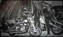 Russel Young, Easy Rider, Silkscreen on linen, signed