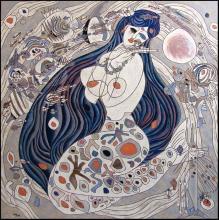 Jiang Tiefeng - White Mermaid, Serigraph Hand Signed