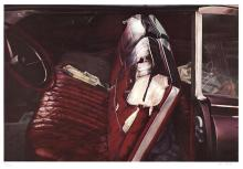 John Salt, Arrested Vehicle with Red Seats lithograph