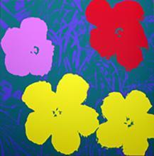 ANDY WARHOL FLOWERS 11.65 SERIGRAPH SUNDAY B. MORNING
