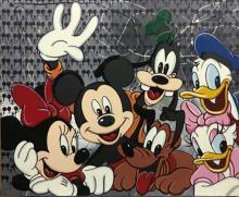 Steve Kaufman SAK Pop Art Mickey Mouse Minnie Goofie