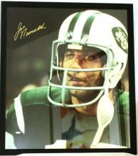 memorabilia Joe Namath 30x34 Framed Autographed