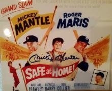memorabilia Mickey Mantle Autographed 8x10 photo Safe