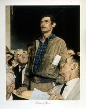 Norman Rockwell Freedom of Speech original collotape
