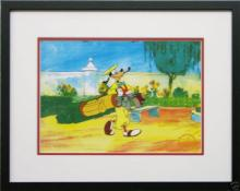 Disney Framed Animation Cel Goofy Golf