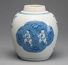 A BLUE AND WHITE BOYS JAR