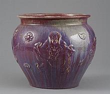A FLAMBE-GLAZED PORCELAIN DRAGON JAR