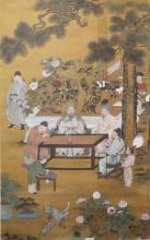 A Chinese Scholars Painting Scroll, Wen Zhengming Mark