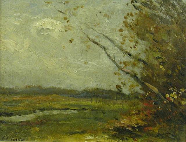 FA Carter 7.25 x 9.25 O/B Autumn Landscape Creek