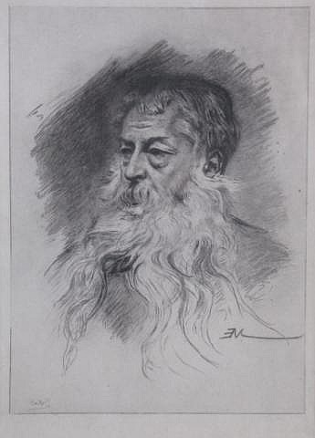 C. Henry White (American) Etching of Bearded Man