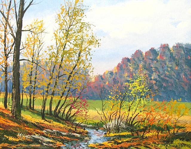 Harold Hancock 22 x 28 O/C Autumn Creek