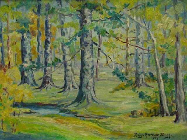 Evalyn G James 12x16 O/B 1954 Landscape