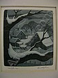 Kenneth Reeve, 3.75x3.5 Etching, signed lower, Kenneth Reeve, Click for value