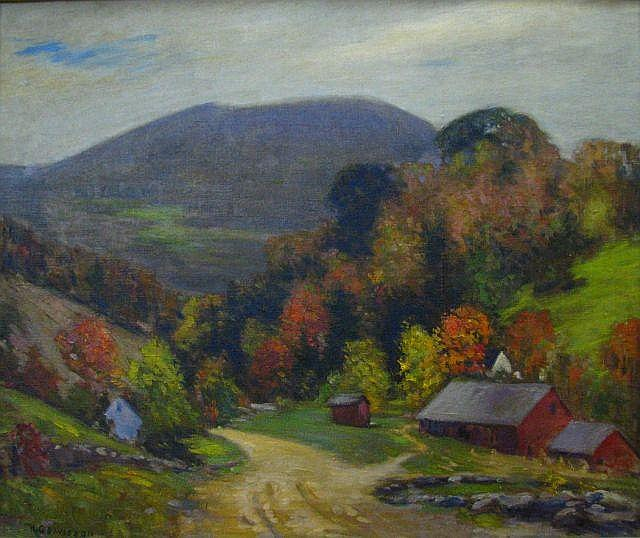 HG Davisson 25 x 30 O/C Brown County Autumn