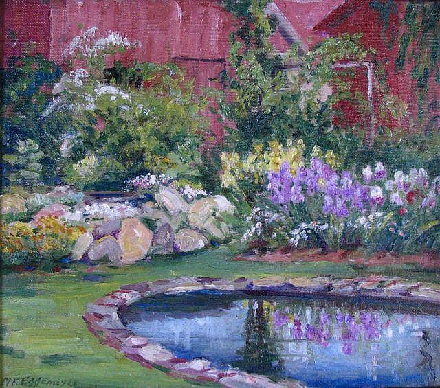 Maude Eggemeyer 14x16 O/B Pond and Garden