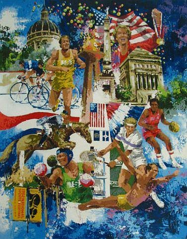 Wayland Moore print, '82 National Sports Festival