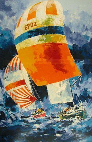 Wayland Moore print, Sailboats