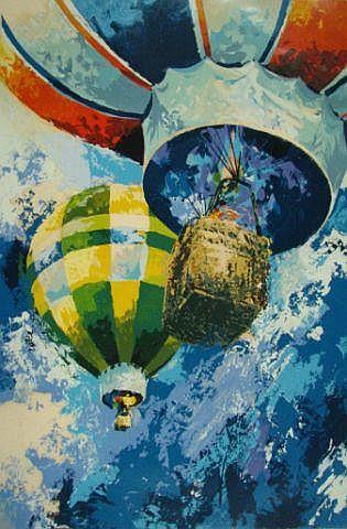 Wayland Moore print, Hot Air Balloons