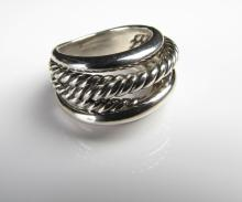 David Yurman Sterling Silver Wide Crossover Ring