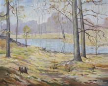 Francis C Brown 24x30 O/B Brown County Pond