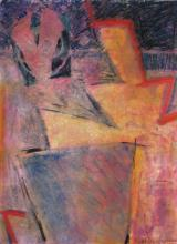 Wright-Pokovny 30x22 Pastel Abstract Composition