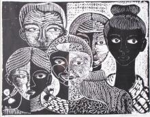Margaret Burroughs Linocut,