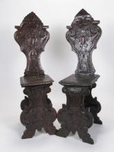Pair of Italian Chairs Sgabello