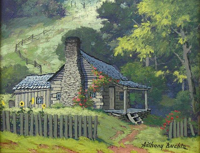 Anthony Buchta 8x10 O/B Brown County Cabin
