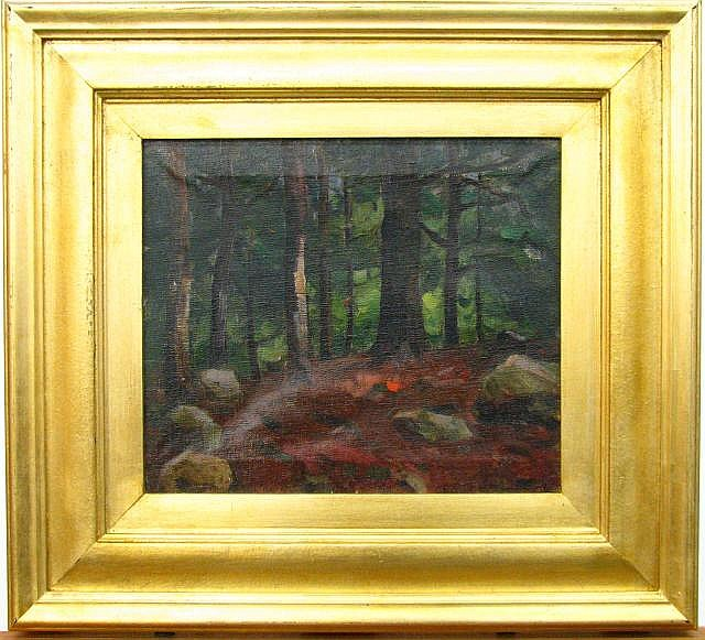 Harry Townsend 12x14 O/C Deep Woods