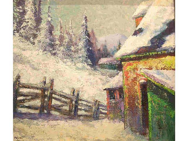 Frank Richard Myslive (IN, 1908-1986) 17.5 x 19.5
