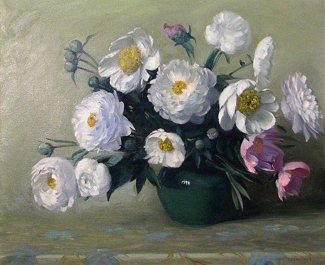 VJ Cariani 24 x 30 O/C Peony Bouquet