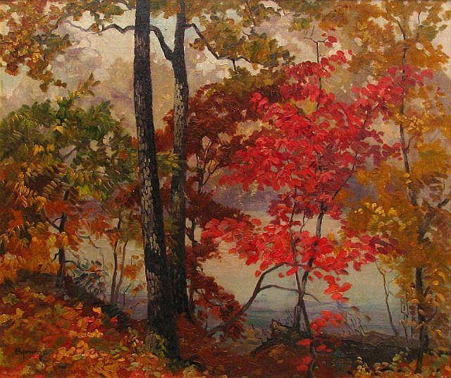 Ruthven Byrum 22 x 26 O/C Lake Landscape