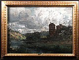 Charles Conner 22x30 O/C View of Richmond