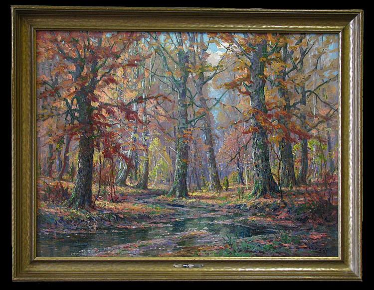 ER Sitzman 30x40 O/C Autumn Woods