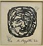 Rudy O. Pozzatti (1925- IN), 4.5 x 3 engraving,, Rudy Pozzatti, Click for value