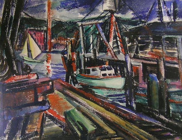Carolyn G Bradley (1898-1954, IN), 17.5 x 22