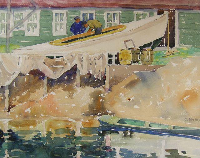 Carolyn G Bradley (1898-1954, IN), 19.5 x 16