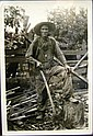 Hohenberger photo, Wash Barnes, Woodchopper, Frank Hohenberger, Click for value