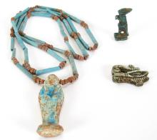 Three Ancient Egyptian Amulets