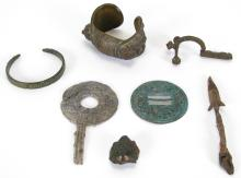 Group of Roman Bronze and Metal Antiquities