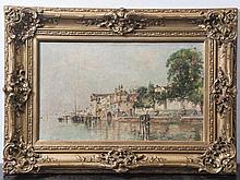 Giusto, Fausto (1867-1941), Ansicht in Venedig, Öl/Lw, re. u. sign. Ca. 30
